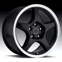 Corvette C4 ZR1 Black/ Machine Lip 17X11 5X4.75 - 36