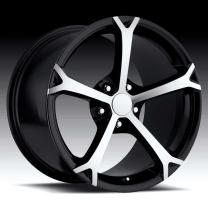 Corvette C6 Grandsport Machine/Black 17X8.5 5X4.75 - 56
