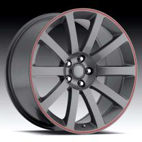Chrysler 300c Grey/Red Stripe 20X9 5X115 - 18